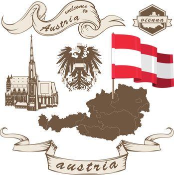 Austria in vintage style