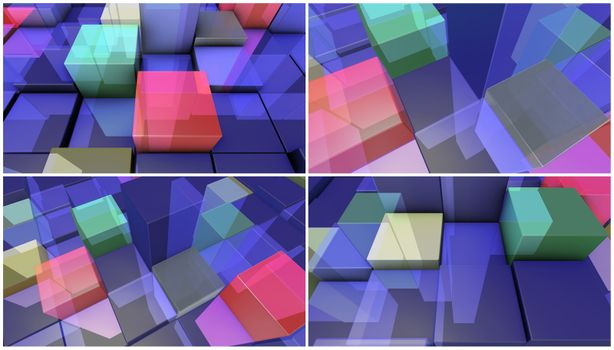 transparent boxes background