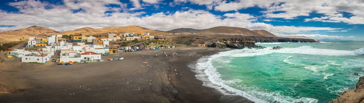 Ajuy - popular fishing village on theFuerteventura west coast, Parque Rural de Betancuria in Fuerteventura, Canary Island, Spain. Picture taken 13 April 2016. April 2016.