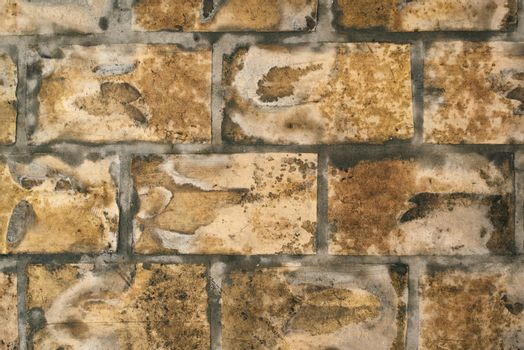 Wet brick wall surface