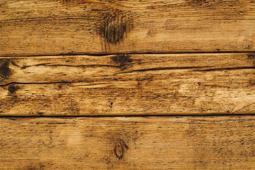 Wet wooden floor board