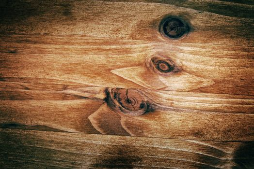 Rustic pine wood texture as background with vignette