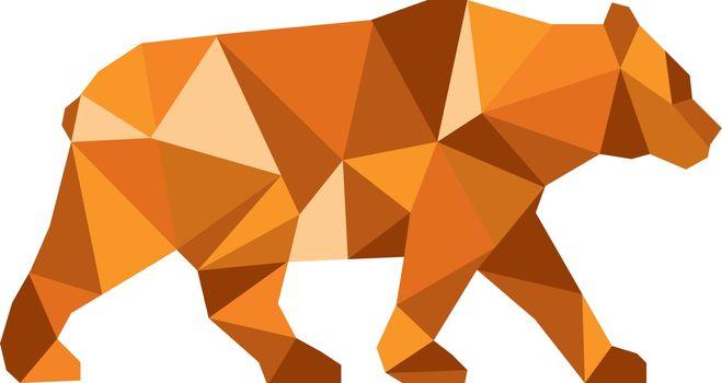 American Black Bear Side Low Polygon