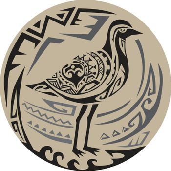 Golden Plover Standing Circle Tribal Art