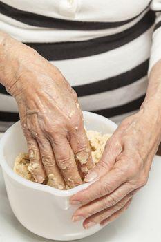 Knead dough by hand