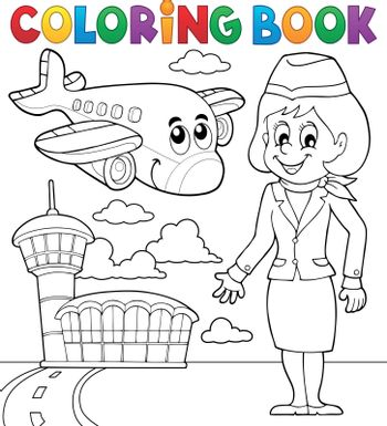 Coloring book aviation theme 2