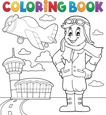 Coloring book aviation theme 3