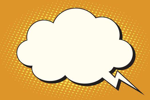 Comic bubble cloud form