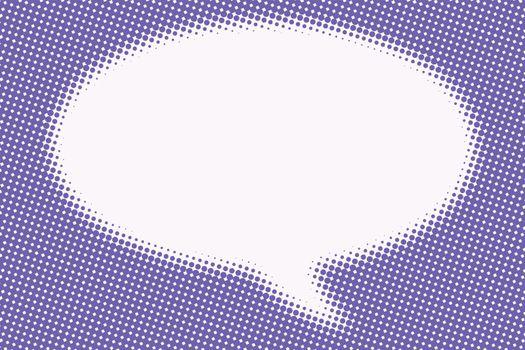 Comic bubble cloud is blurred