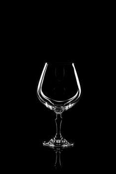 transparent glass for brandy