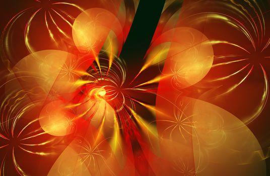 Fractal image is: virtual flowers.