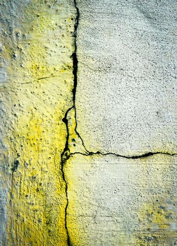 thin cracks on the old plaster