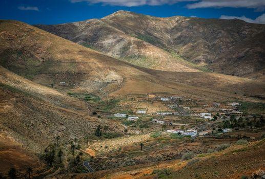 Dry landscape of Fuerteventura, Canary Islands, Spain