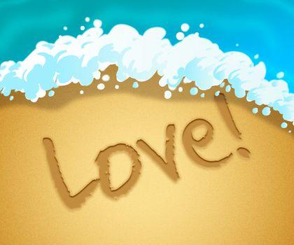 Love Beach Represents Boyfriend Coast And Fondness