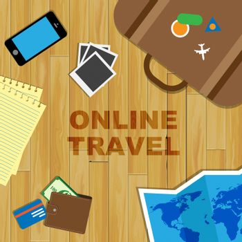 Online Travel Representing Web Site And Internet