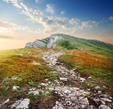 Plateau of a mountain