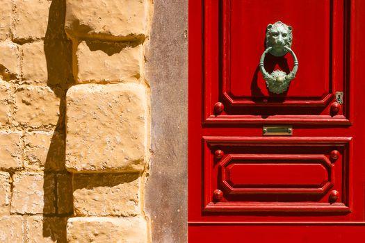 Red maltese door