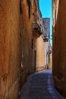 Antique narrow maltese street