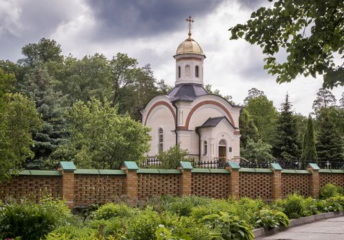 An Orthodox Church on a picturesque hill.