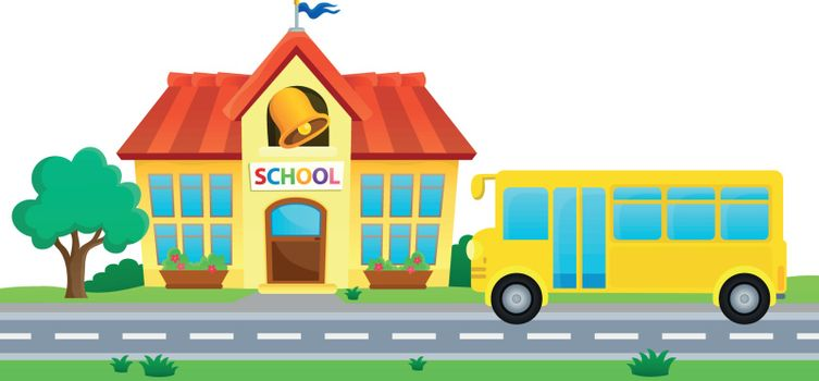 School and bus theme image 1 - eps10 vector illustration.
