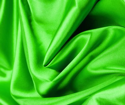 green silk background or texture