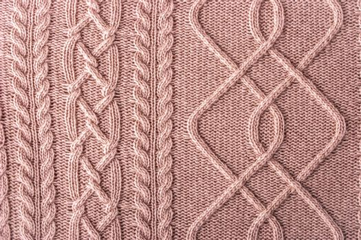 Pink figured sweater
