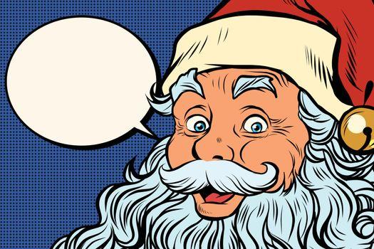 Santa Claus tells comic bubble