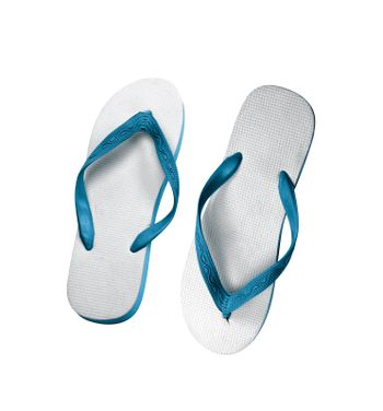pair of flip-flops isolated on a white