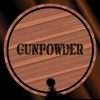 Gunpowder Keg With Powder Trail
