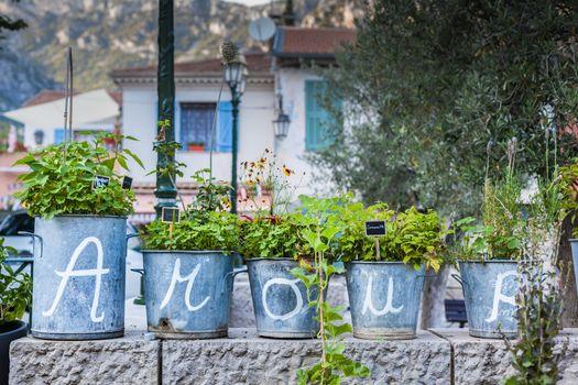 Amour love letters written on flower vases