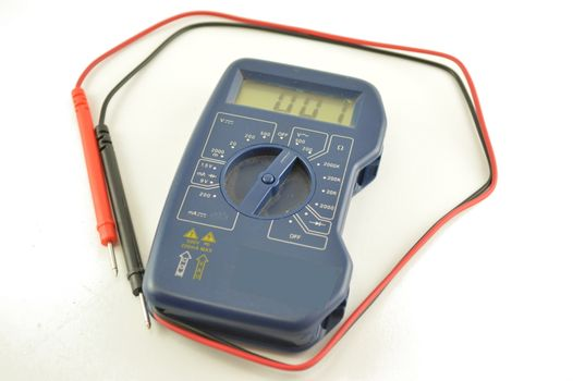 Digital multimeter, isolated on white background