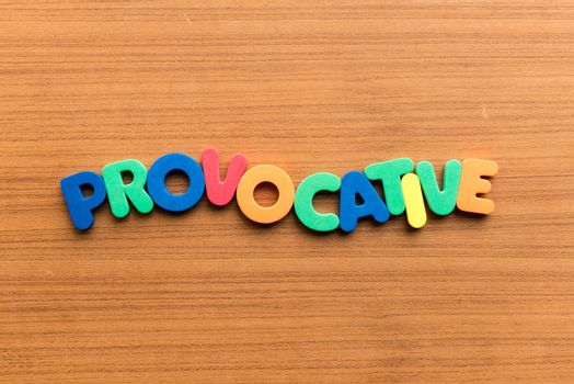 provocative colorful word