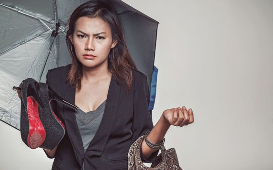 Asian women are in a mood of frustration.