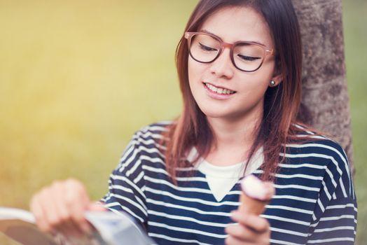 Asian women have enjoyed eating