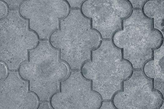Decorative concrete slabs pavers