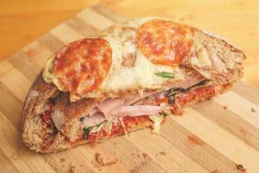 Tasty homemade sandwich
