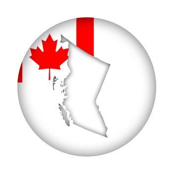 Canada British Columbia map flag button