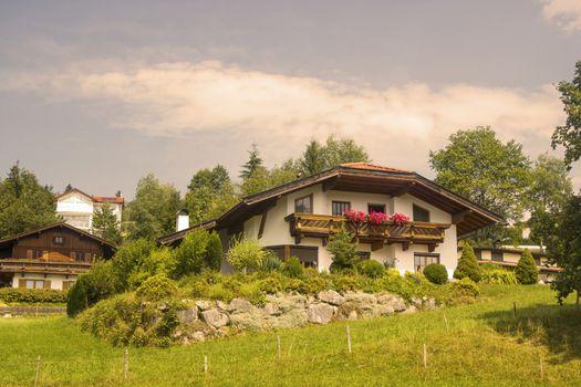 Kössen in Alps, Austria
