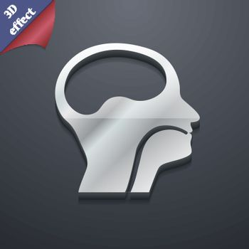 larynx, Medical Doctors Otolaryngology icon symbol. 3D style. Trendy, modern design with space for your text Vector
