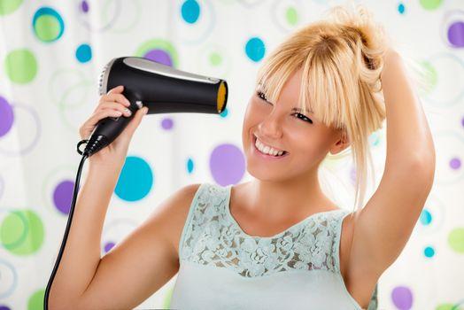Girl Making Hairstyle