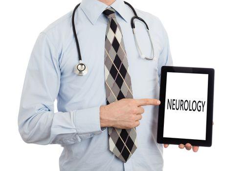 Doctor holding tablet - Neurology