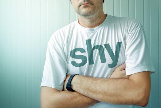 Shy guy posing