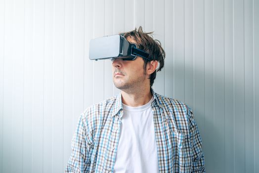 Guy with VR goggles