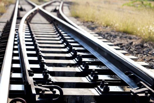 Railroad in thailand,big and long railroad,good railroad