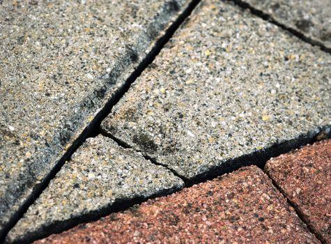 Interlocking paving sawed detail