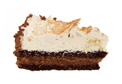 Piece of cake isolated on the white background