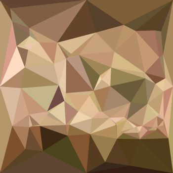 Low polygon style illustration of a burlywood abstract geometric background.