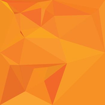 Low polygon style illustration of a goldenrod yellow abstract geometric background.