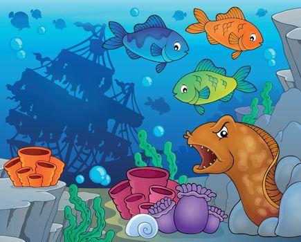 Underwater ocean fauna theme 9