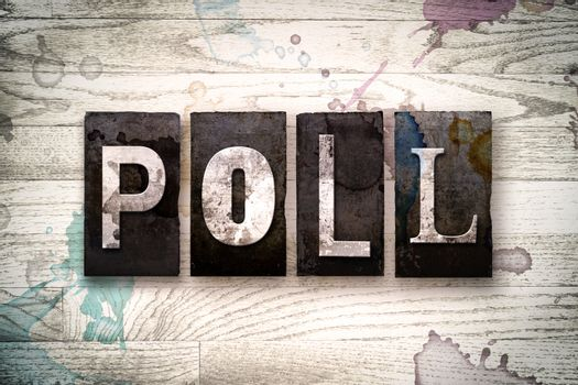 Poll Concept Metal Letterpress Type
